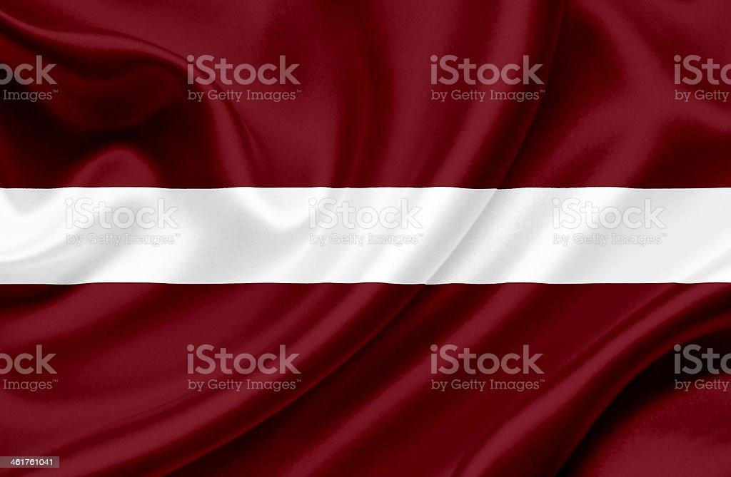 Latvia waving flag stock photo