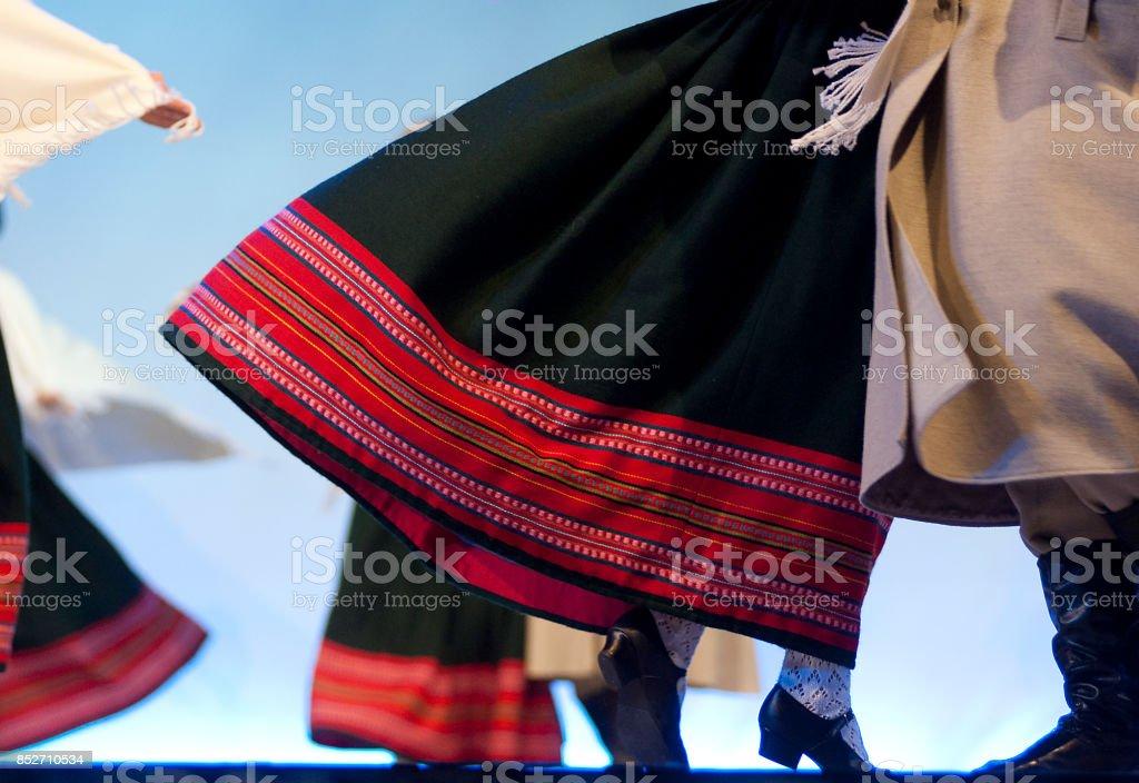 Latvian Dancers stock photo