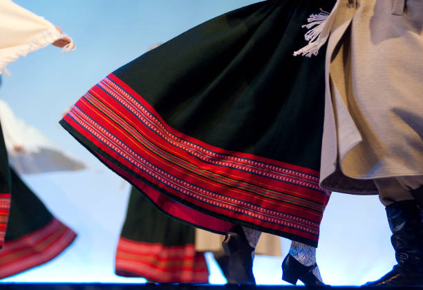 Latvian Dancers stock photo