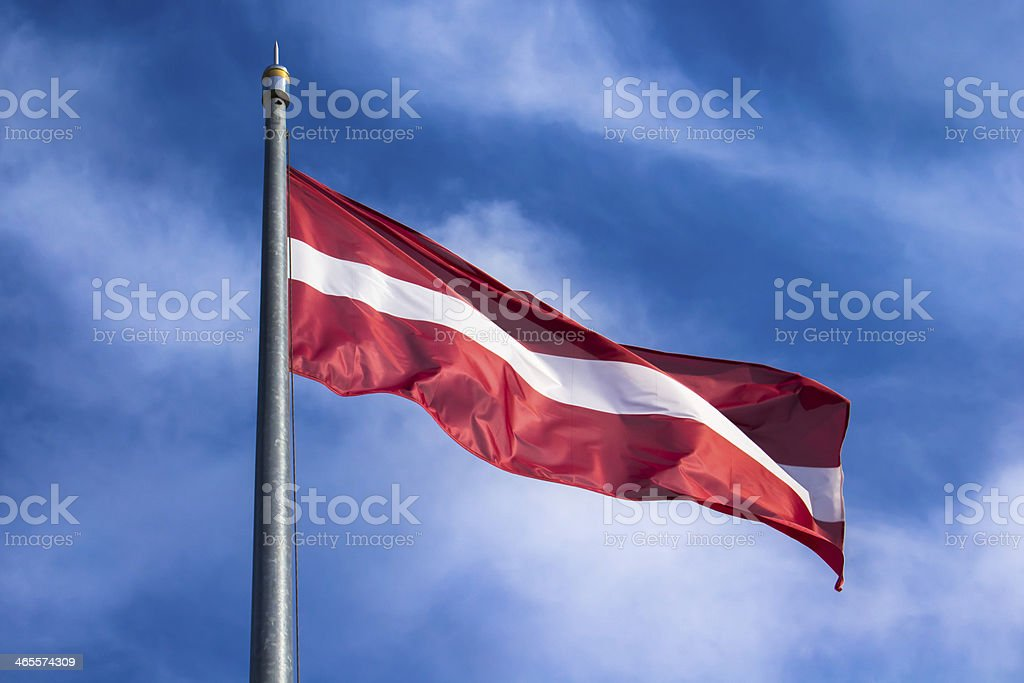Latvian flag - horizontal stock photo