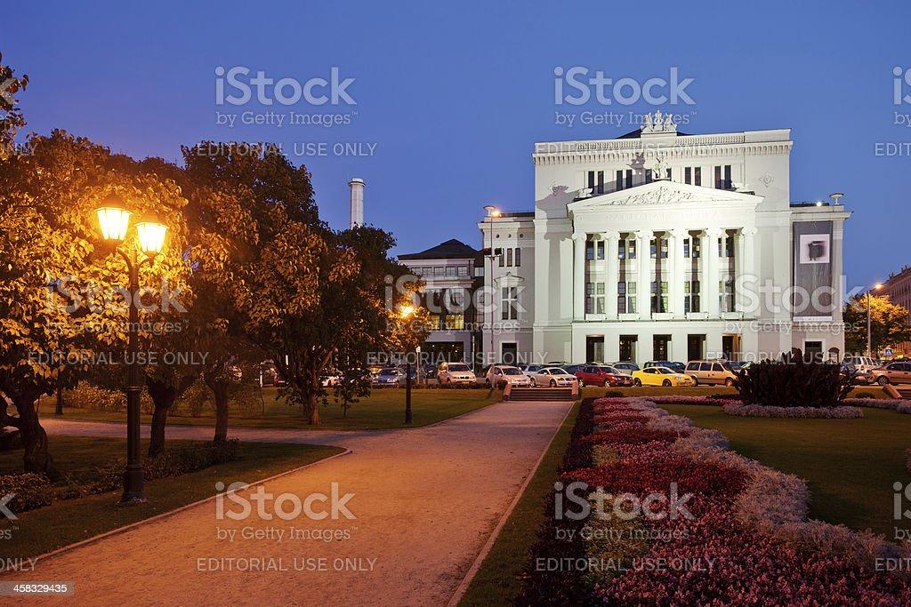 Latvian National Opera in Riga royalty-free stock photo
