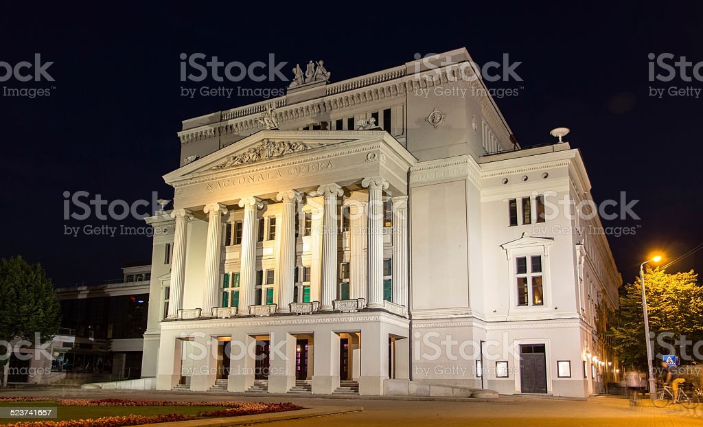 Latvian National Opera in Riga stock photo