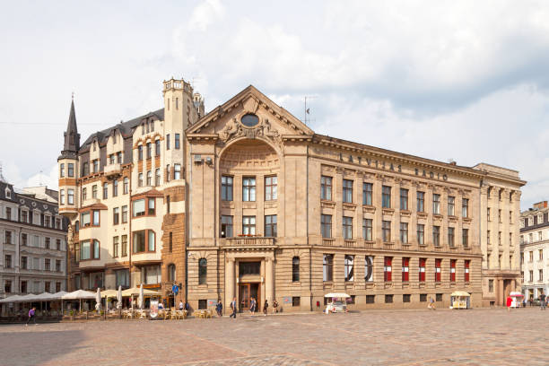 Latvijas Radio in Riga stock photo