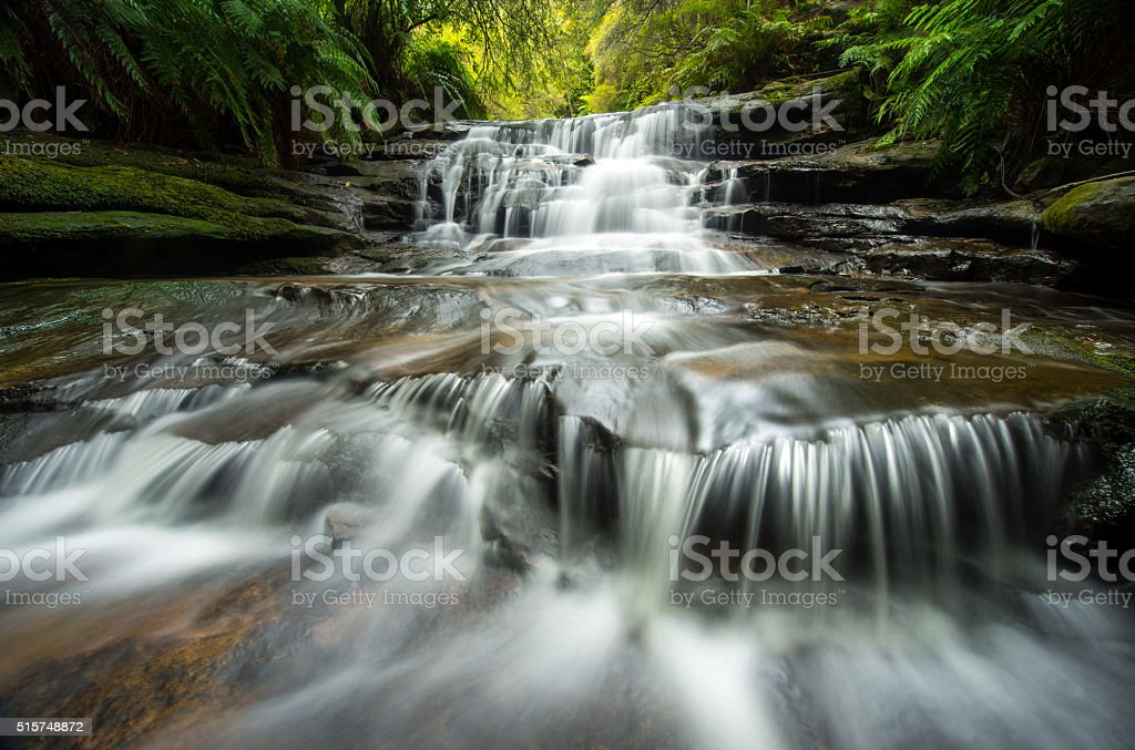 Lauera cascade in Blue mountains. stock photo