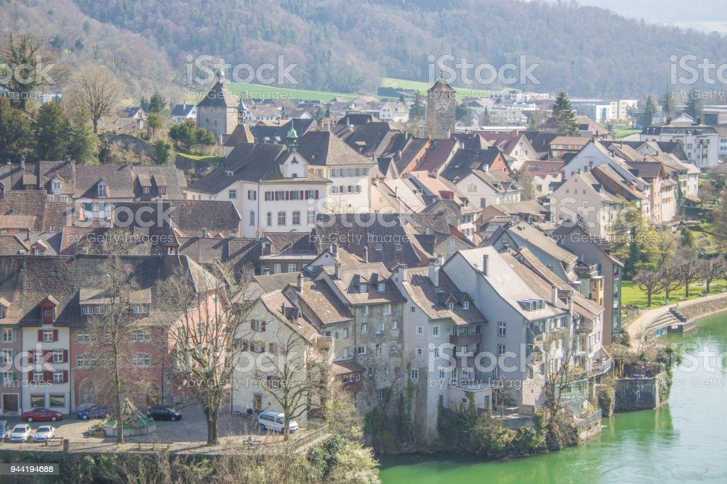 Laufenburg am Hochrhein stock photo