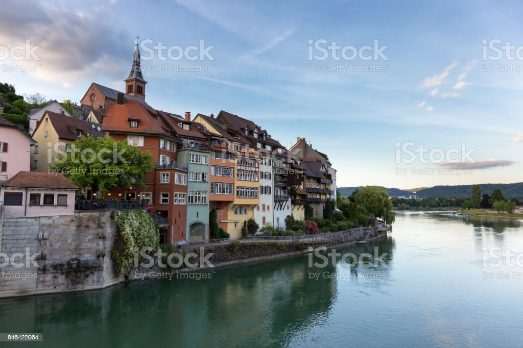 Laufenburg in Baden Wuerttemberg on the Rhine River, Germany royalty-free stock photo