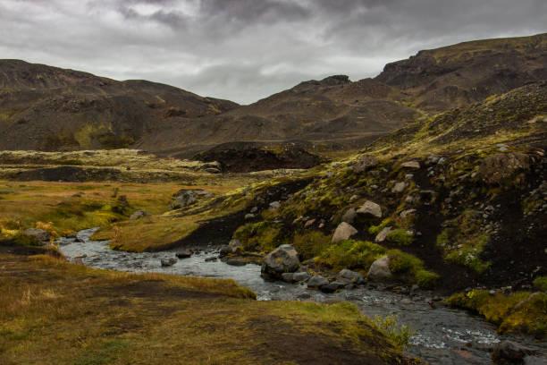 Laugavegur Trail, Landmannalaugar, Iceland stock photo