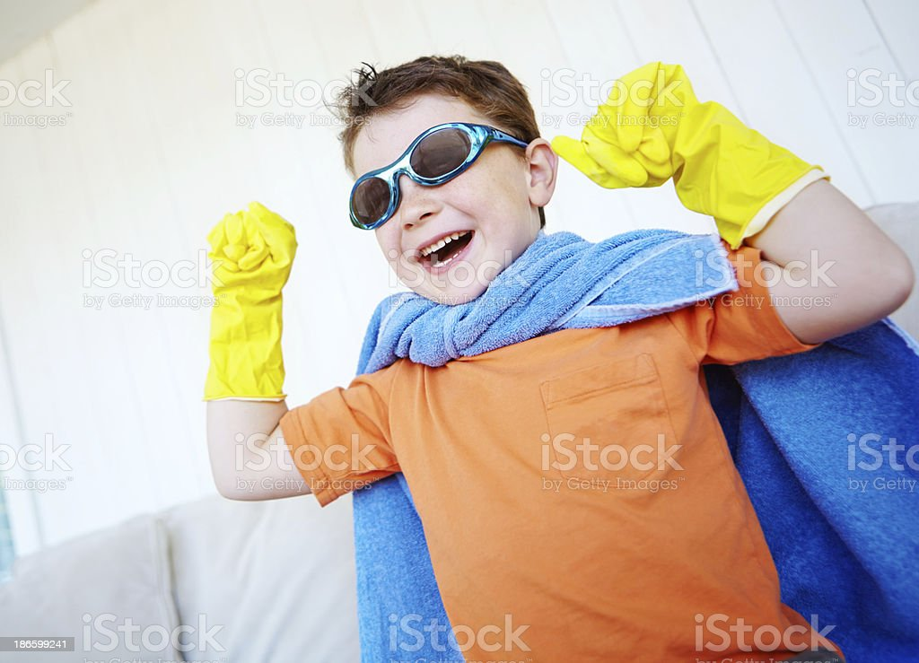 I laugh in the face of danger royalty-free stock photo