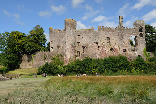 Laugharne Castle, Carmarthenshire, Wales stock photo