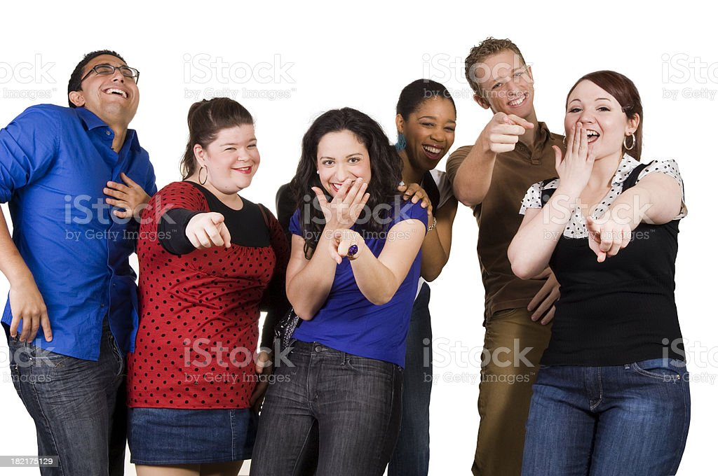 Laughing all the way stock photo