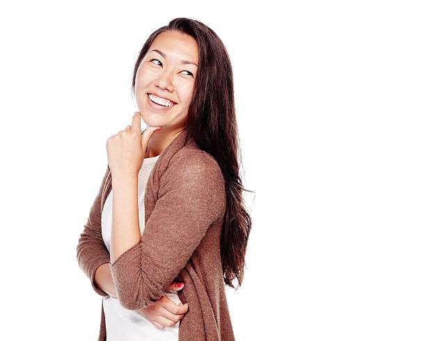 Asiatische Mädchen lachen – Foto