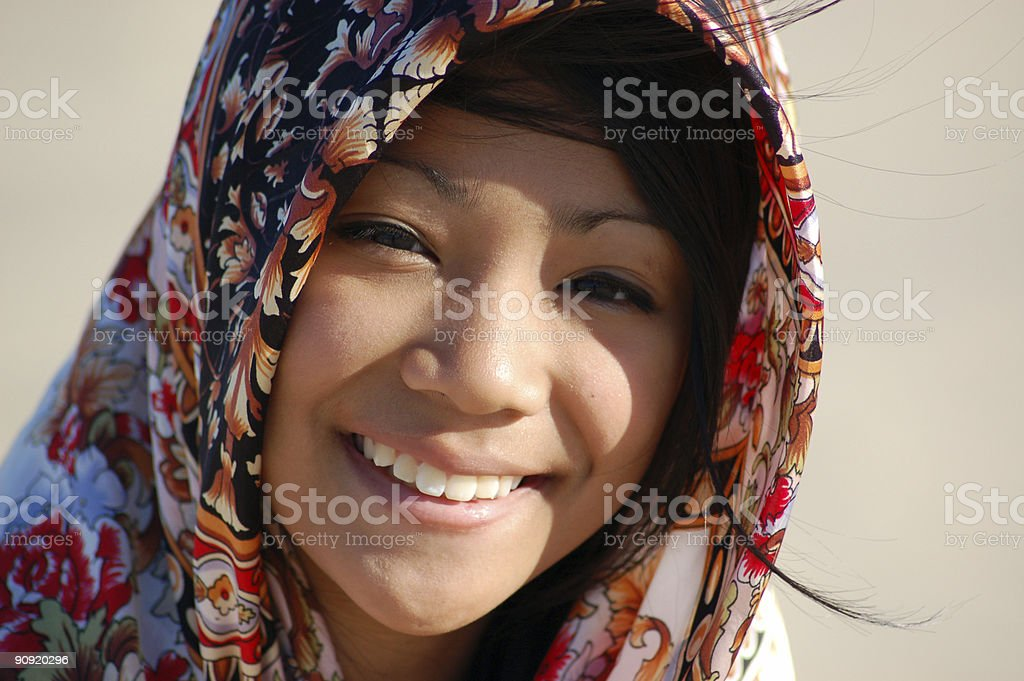 Laughing Asian Girl royalty-free stock photo