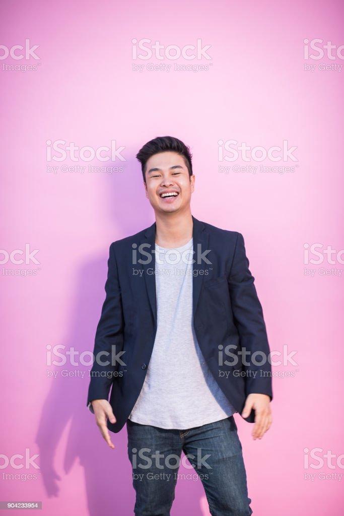 Asiatische junge Erwachsene Hipster lachen – Foto