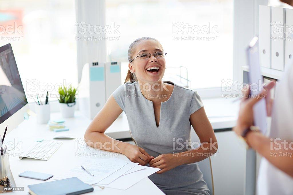 Laughing at joke – Foto