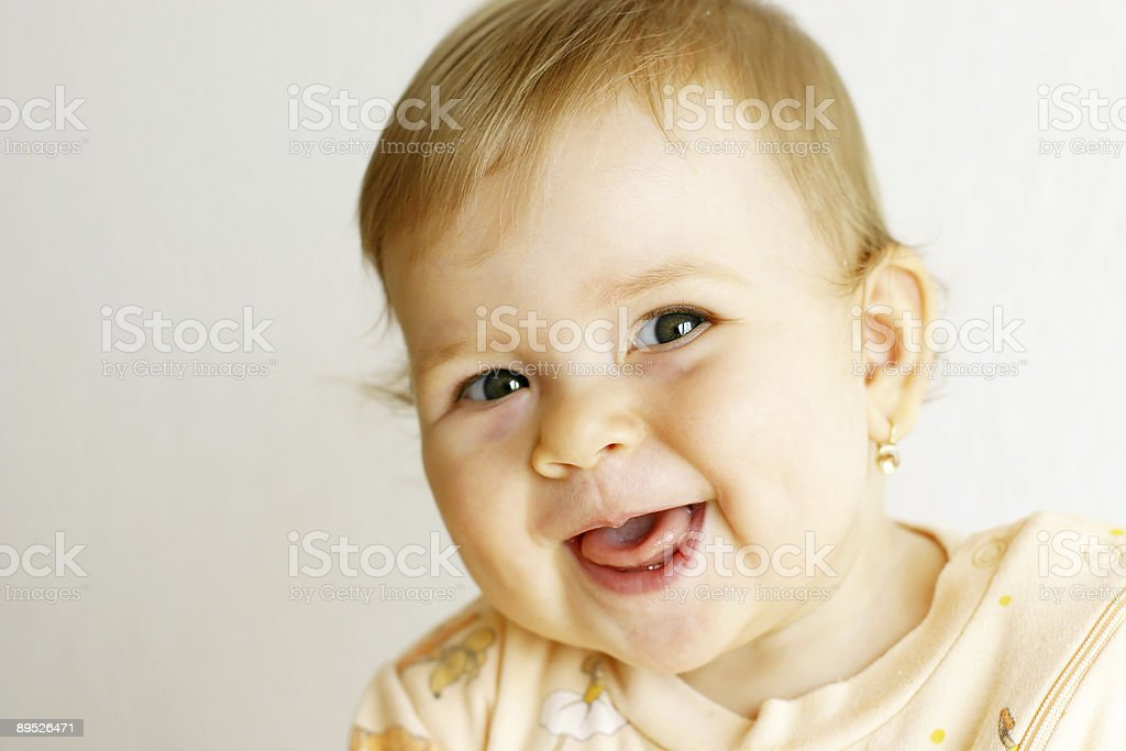 Laughing baby royalty-free stock photo