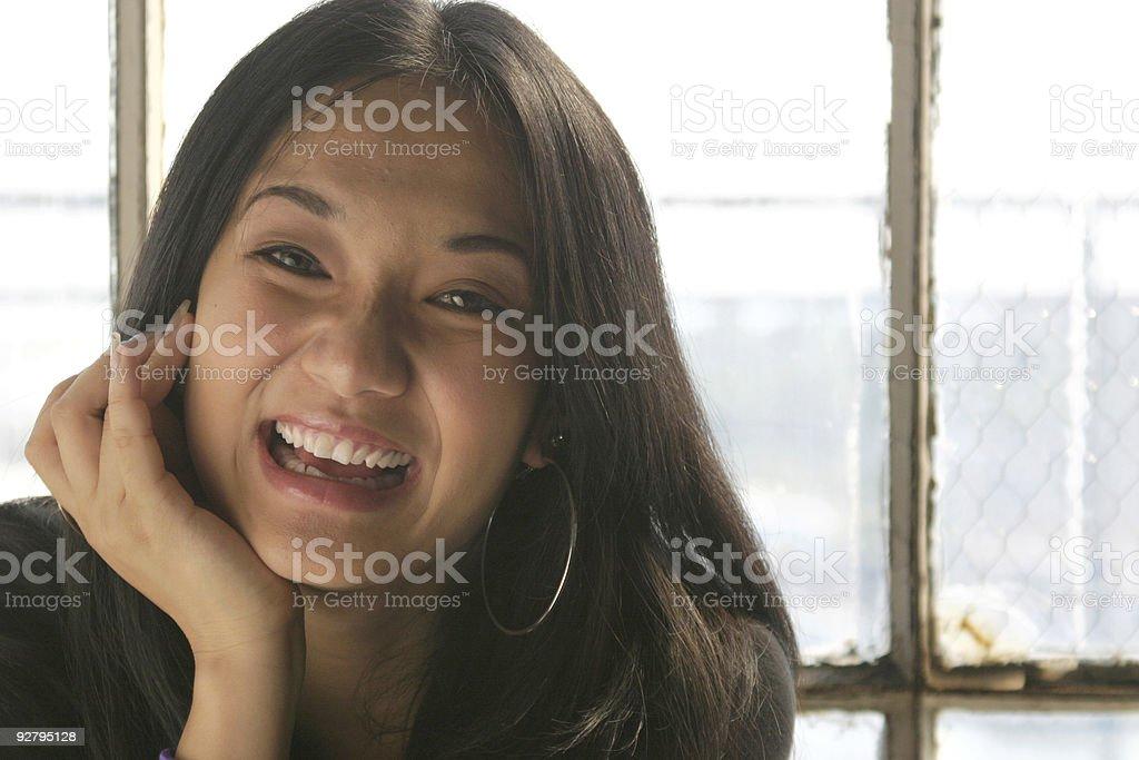 Laughing beautiful woman royalty-free stock photo