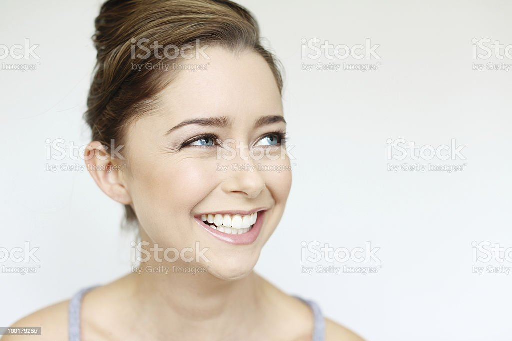 Laughing beauty stock photo