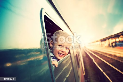 Little boy on the train
