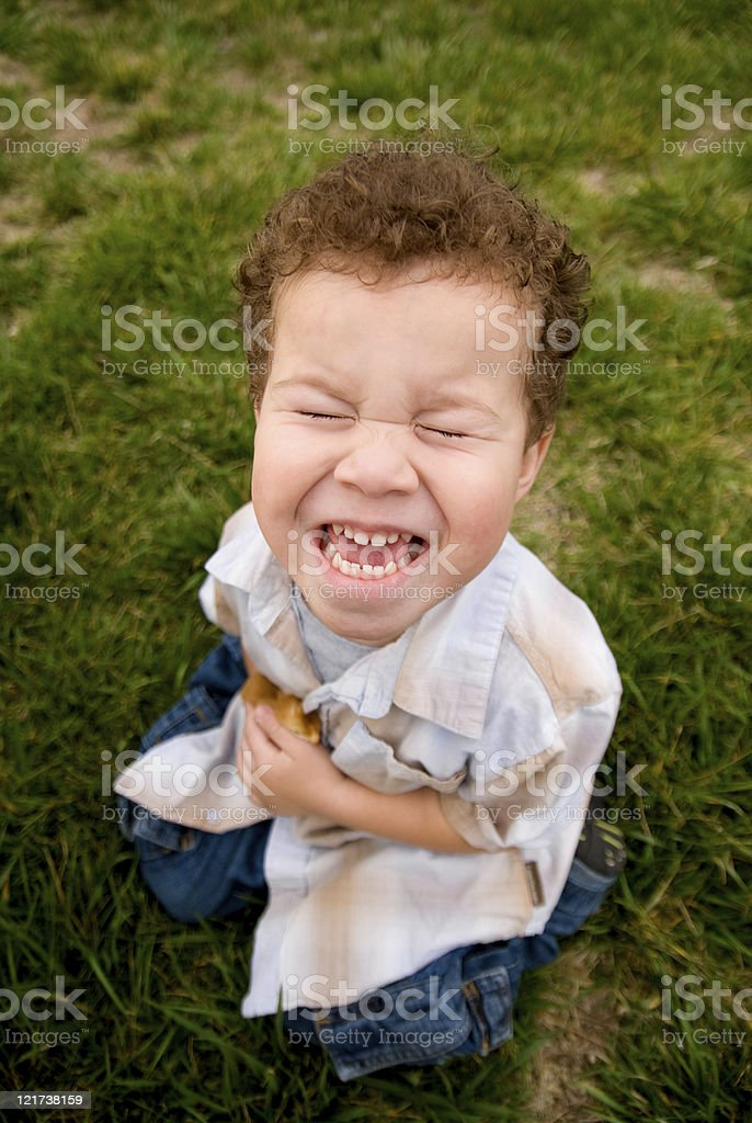 Laughing Boy royalty-free stock photo