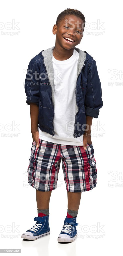 Laughing Boy Standing stock photo