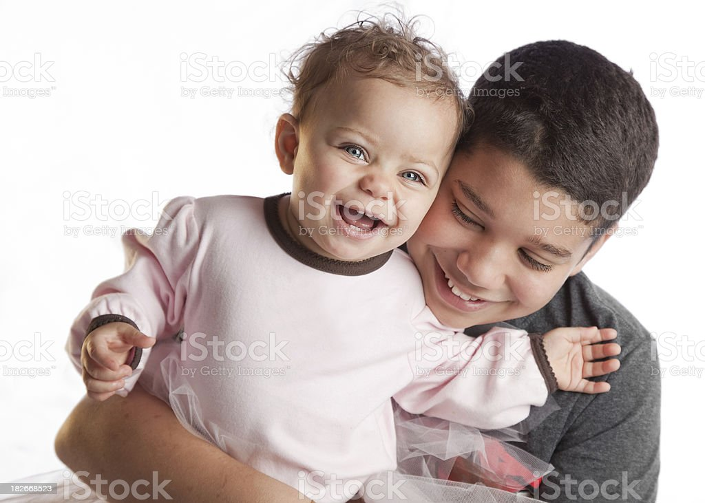 Laughing Brother and Sister royalty-free stock photo
