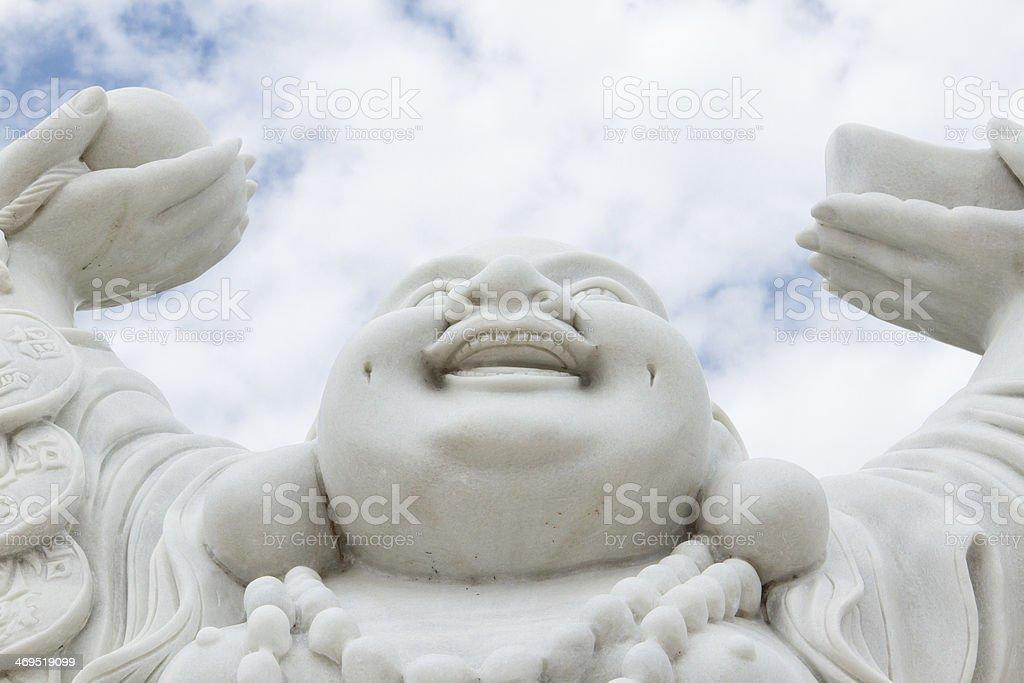 Laughing Buddha isolated stock photo