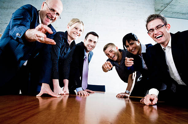 Laughing Business People stock photo