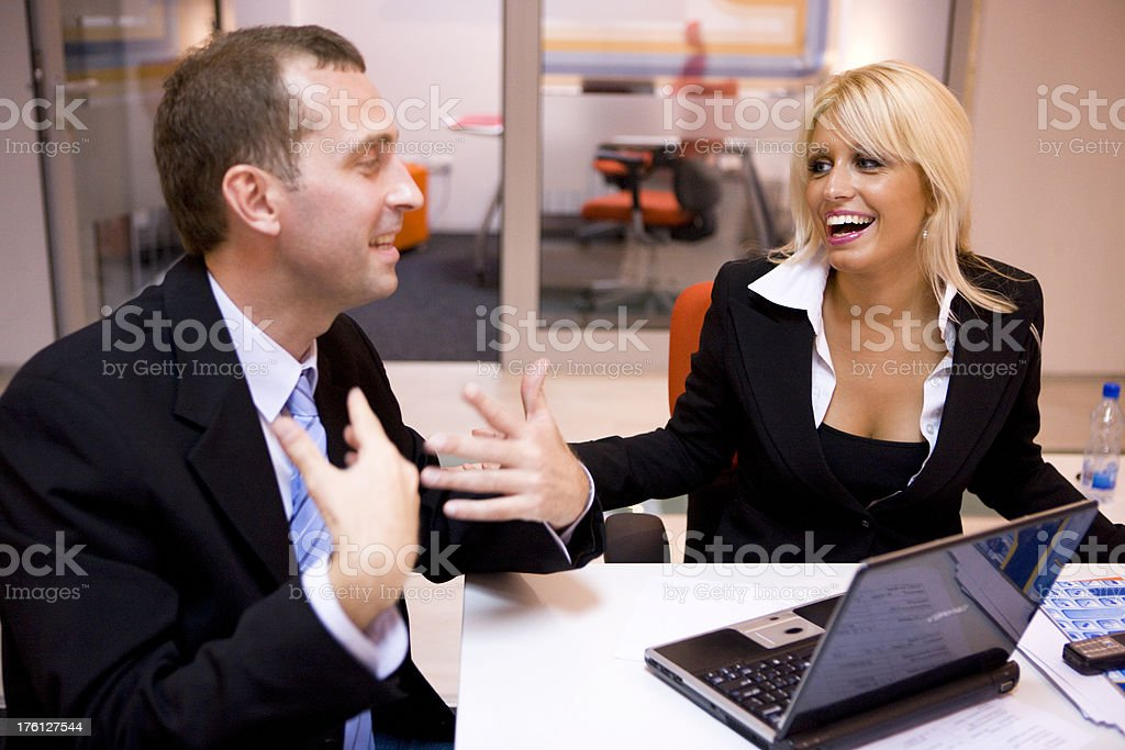 Laughing businesspeople royalty-free stock photo
