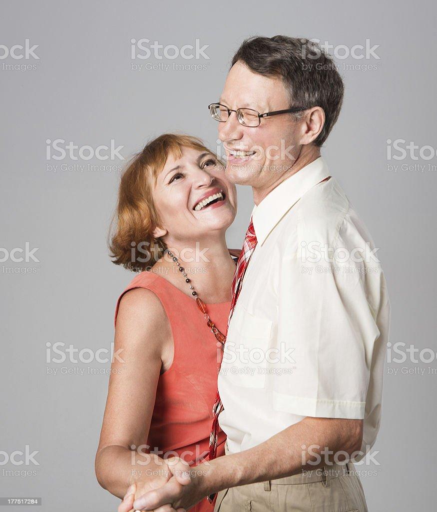 Laughing cheerful senior couple royalty-free stock photo