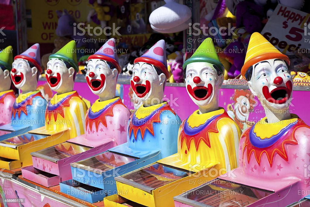 Laughing Clown Carnival Game stock photo