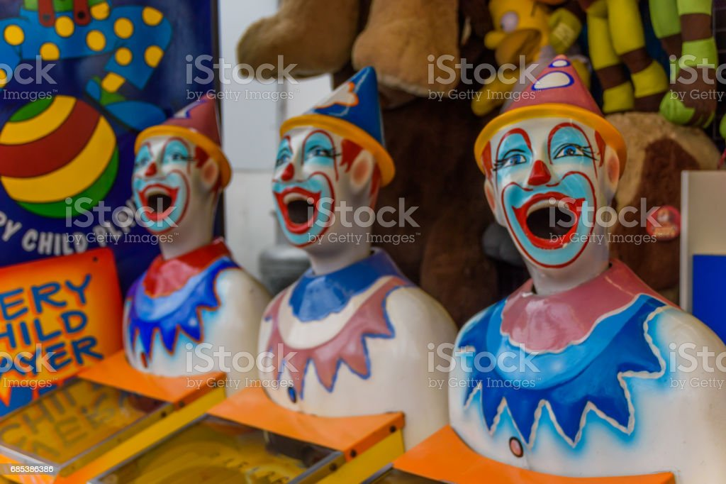 Laughing Clowns stock photo