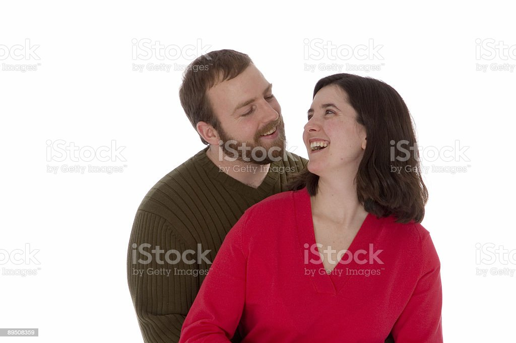 Laughing Couple in Love royalty-free stock photo