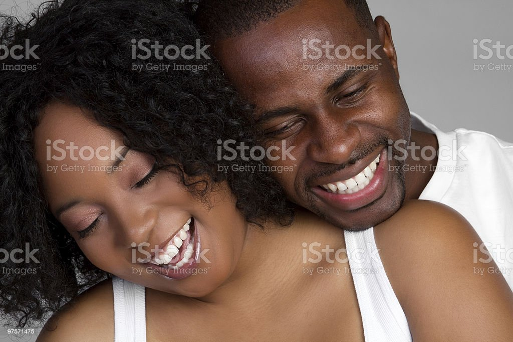 Rire Couple photo libre de droits