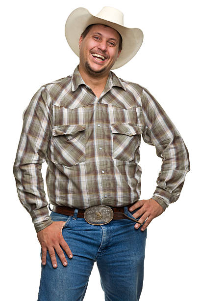 laughing cowboy - belt stock photos and pictures