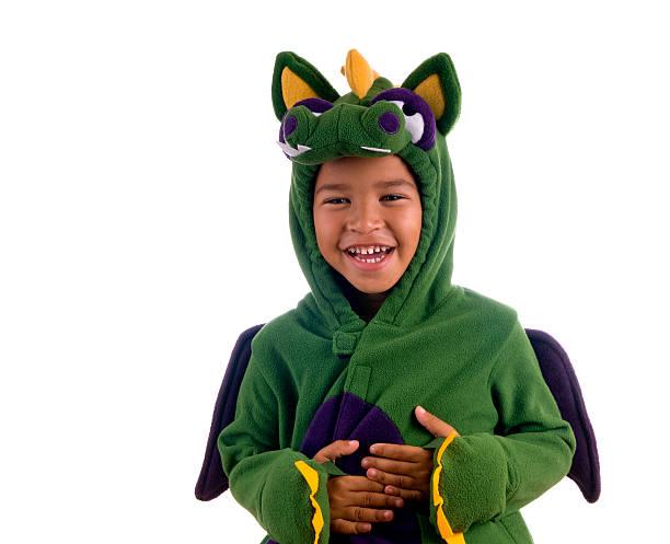 lachen dragon - kleine jungen kostüme stock-fotos und bilder