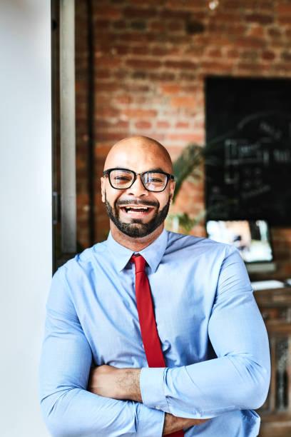 Laughing entrepreneur stock photo