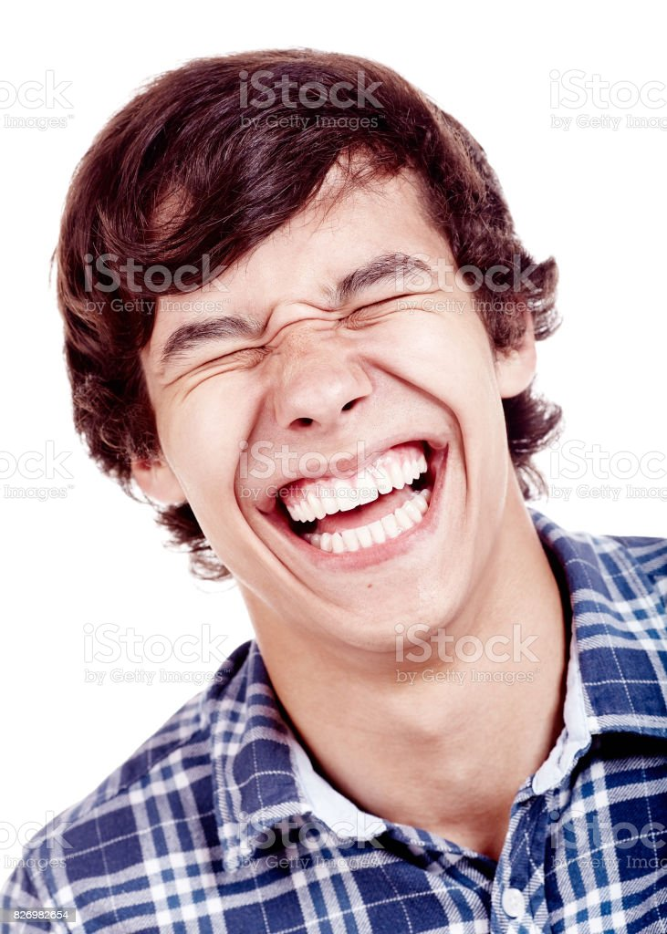 Laughing Face Closeup Stock Photo - Download Image Now ...
