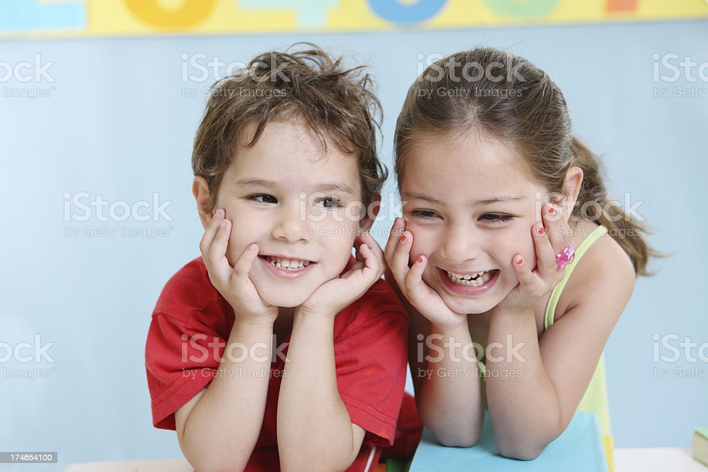 Laughing friends royalty-free stock photo