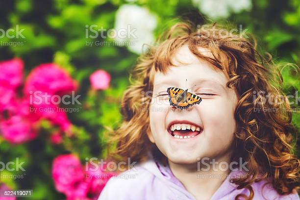 Laughing girl with a butterfly on his nose picture id522419071?b=1&k=6&m=522419071&s=612x612&h=aoxgrh0ejfjz9tocvdaev0l3mvmvmcbylcf3mntfyf8=