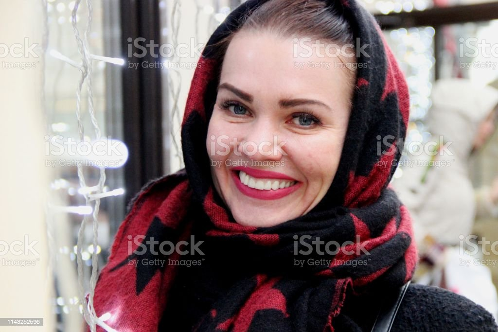 Laughing girl with blue eyes royalty-free stock photo