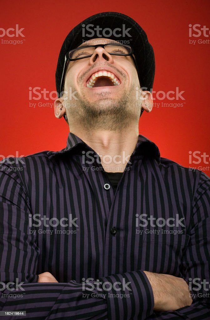 Laughing guy royalty-free stock photo