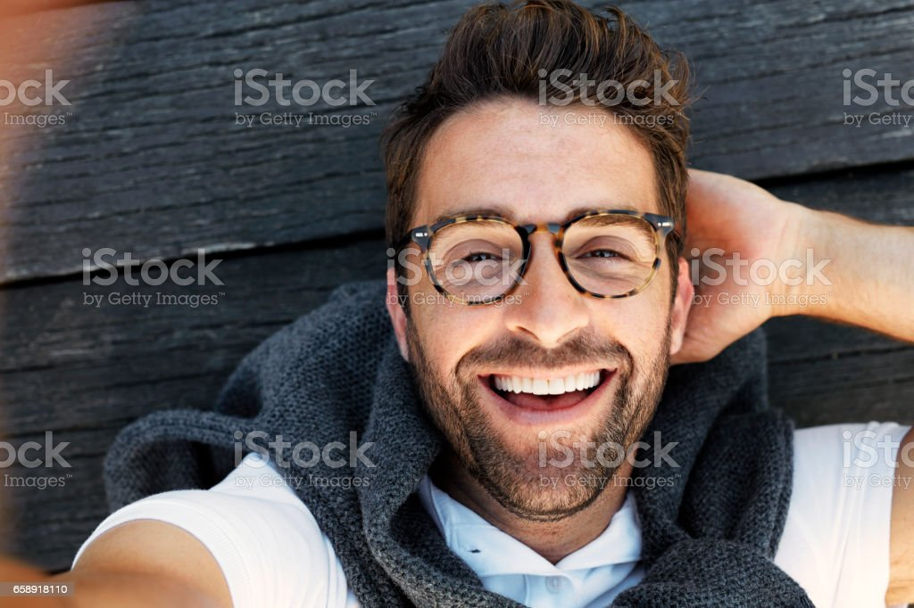 Lachen Mann - Lizenzfrei 30-34 Jahre Stock-Foto