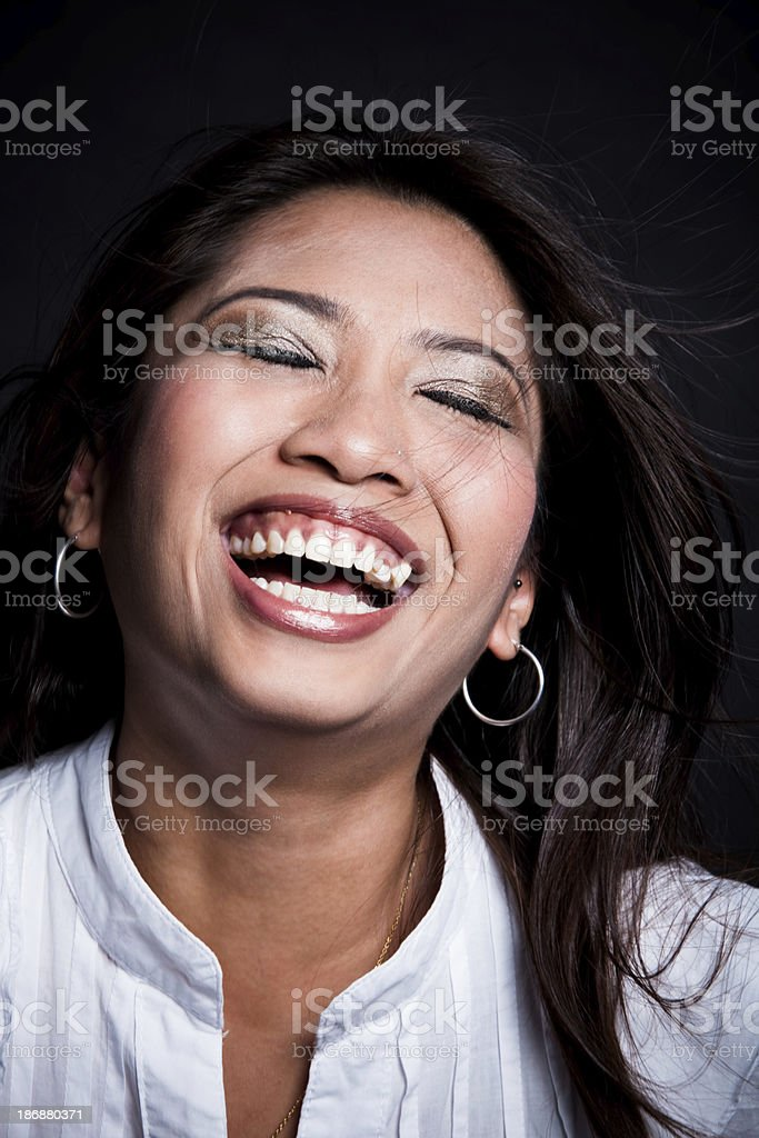 Laughing happily royalty-free stock photo