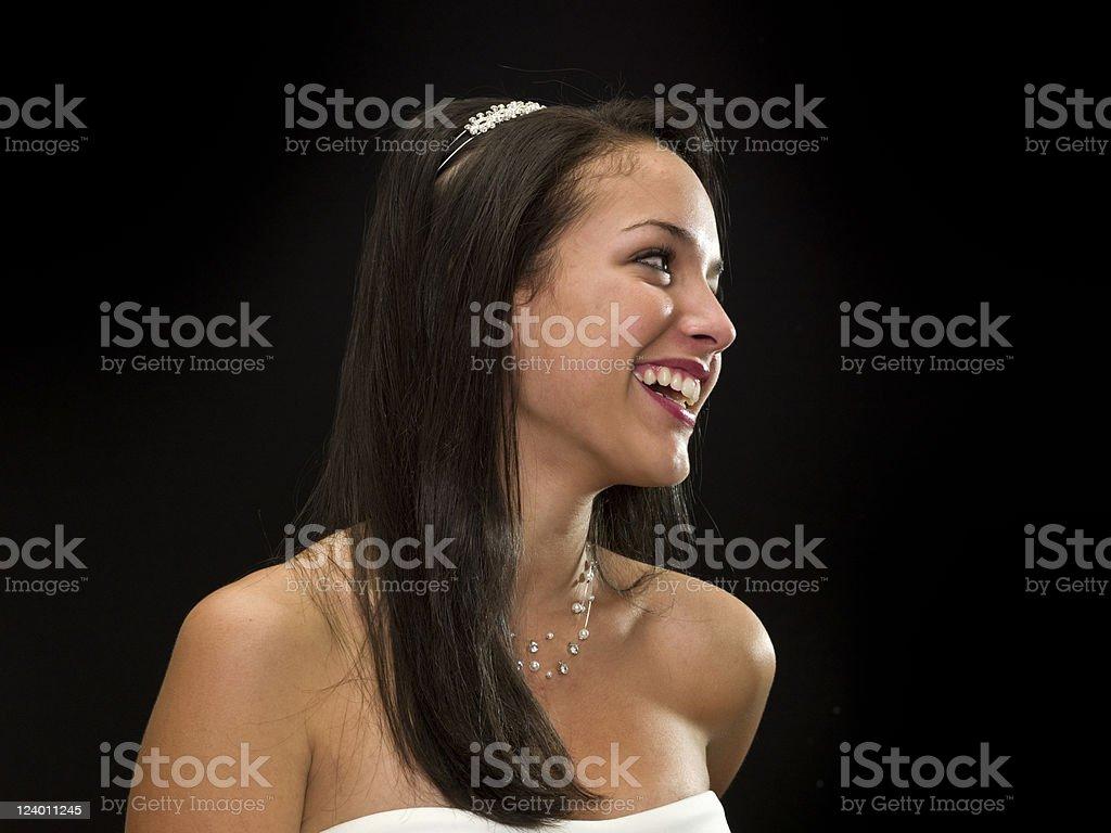 Laughing Hispanic teenage girl royalty-free stock photo