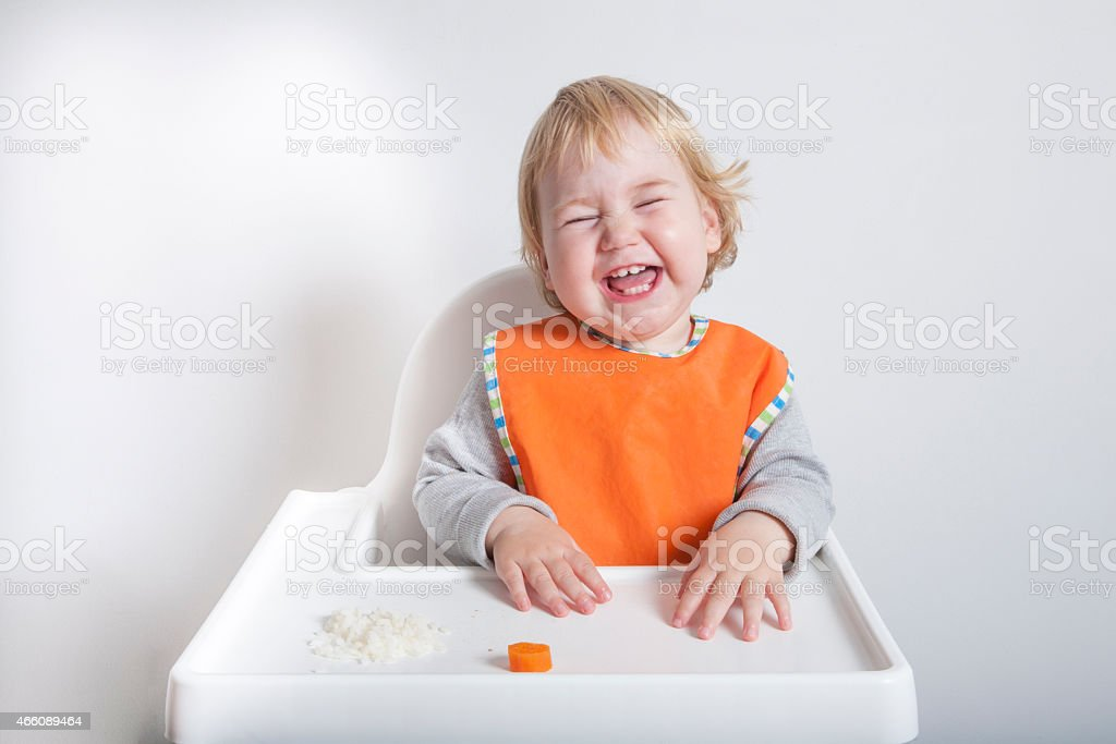 laughing in meal stock photo