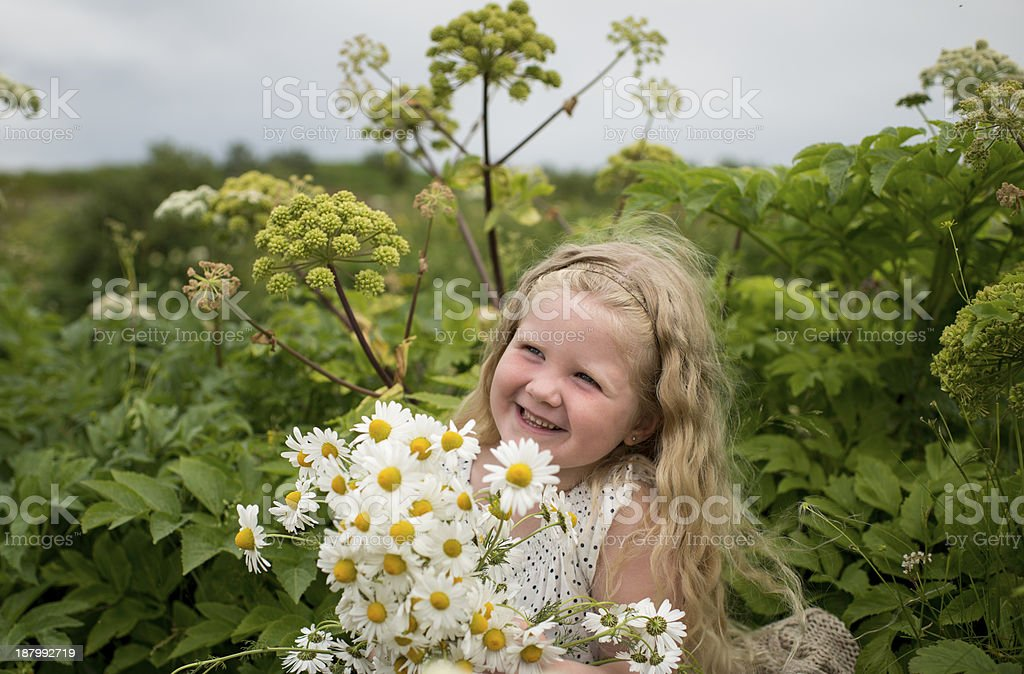 Laughing in nature royalty-free stock photo