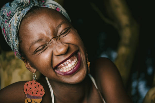 Laughing is the best of life stock photo