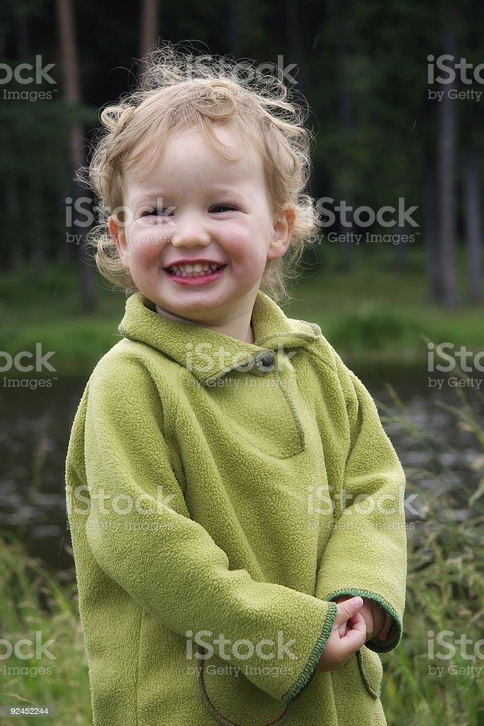 Laughing kid royalty-free stock photo