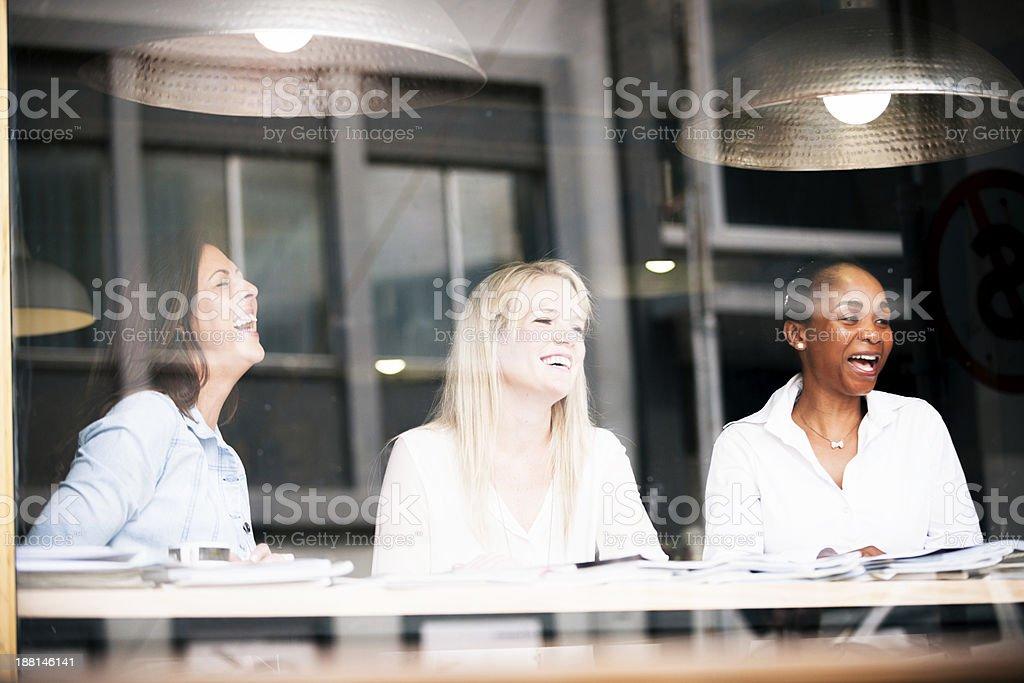 Laughing Ladies royalty-free stock photo