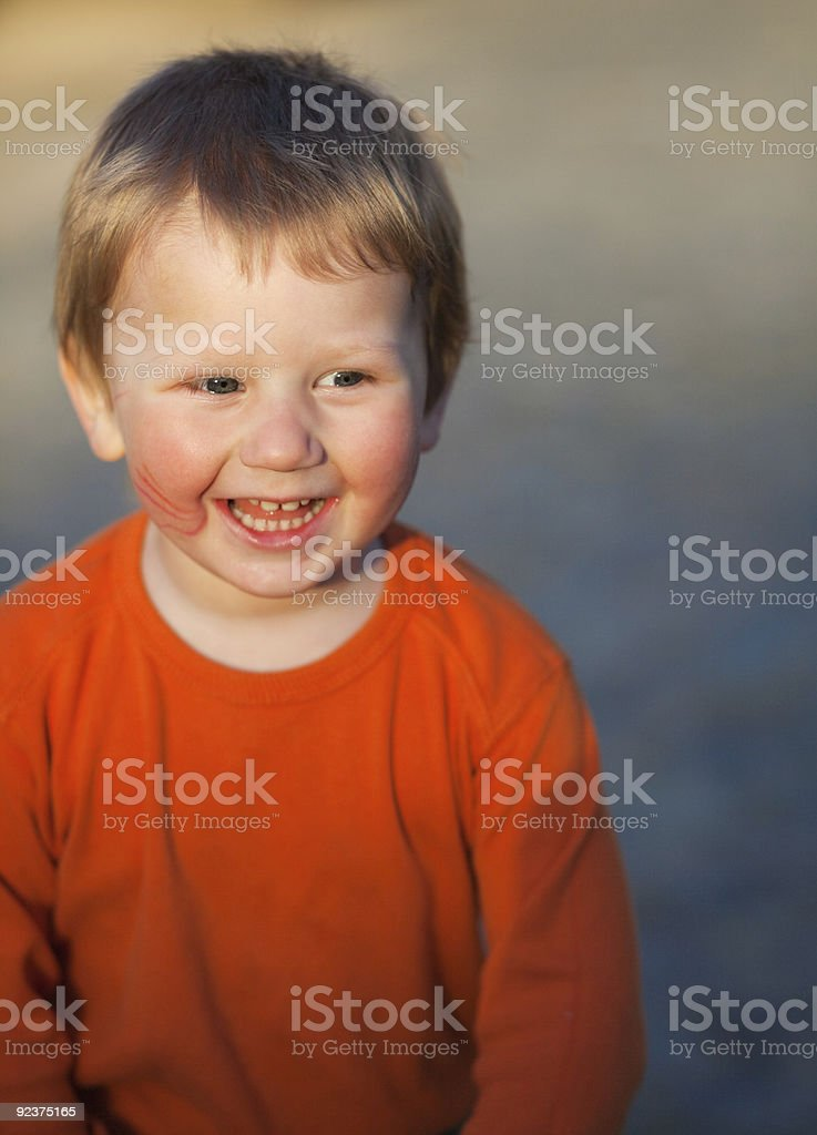 Laughing little boy royalty-free stock photo